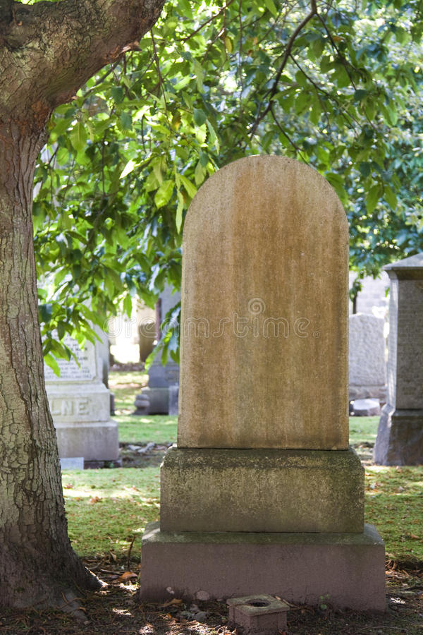 Blank gravestone royalty free stock photos