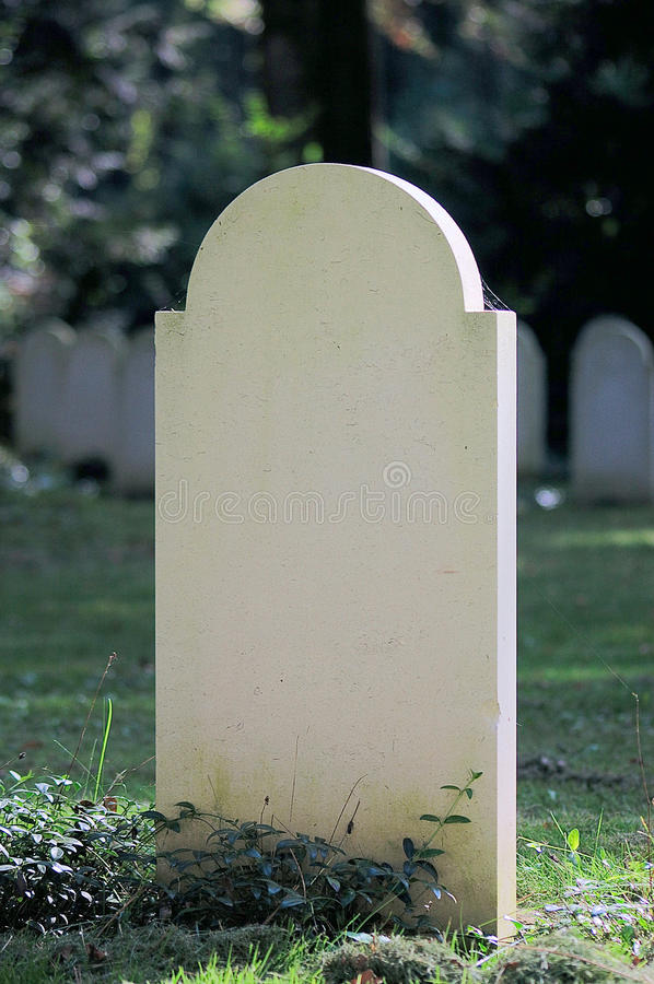blank gravestone royaltyfri foto