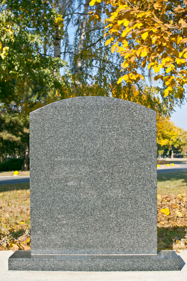 Blank gravestone royalty free stock photography