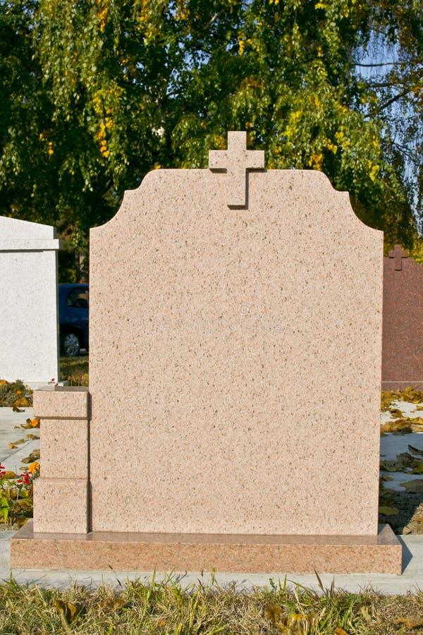blank gravestone royaltyfri bild