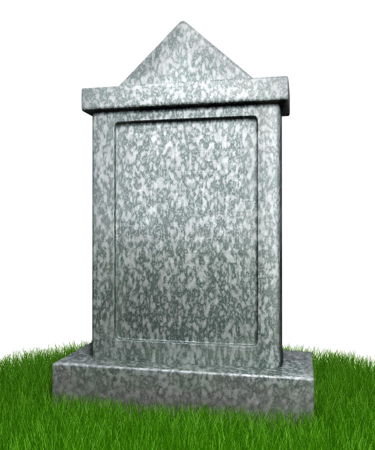Blank gravestone stock illustrationer
