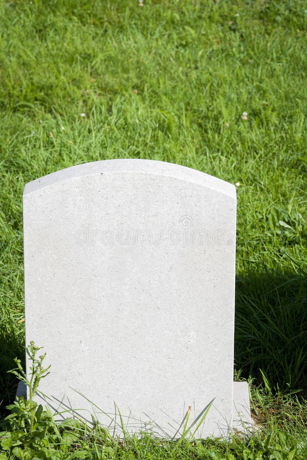 blank gravestone arkivbild