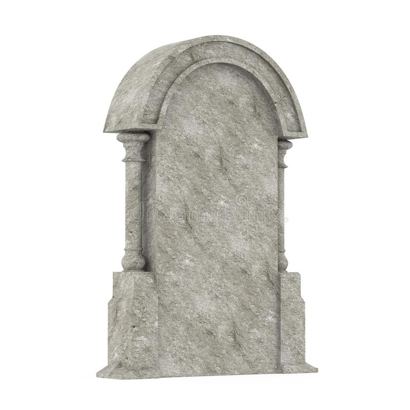 Blank Gravestone Isolated vector illustration