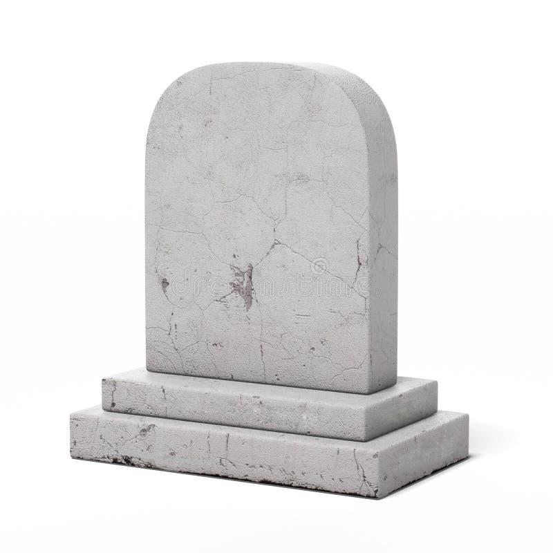 Blank gravestone stock photography