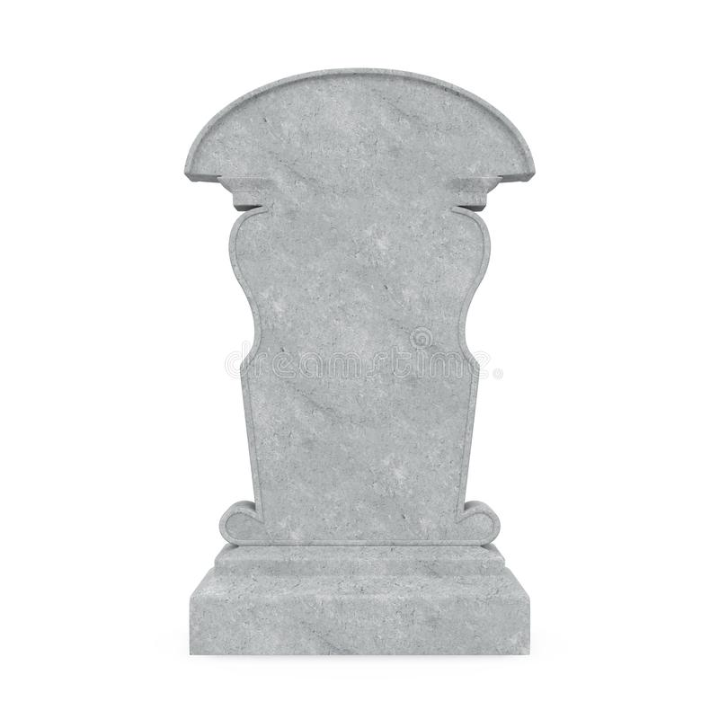 Blank Gravestone Isolated royalty free stock photos