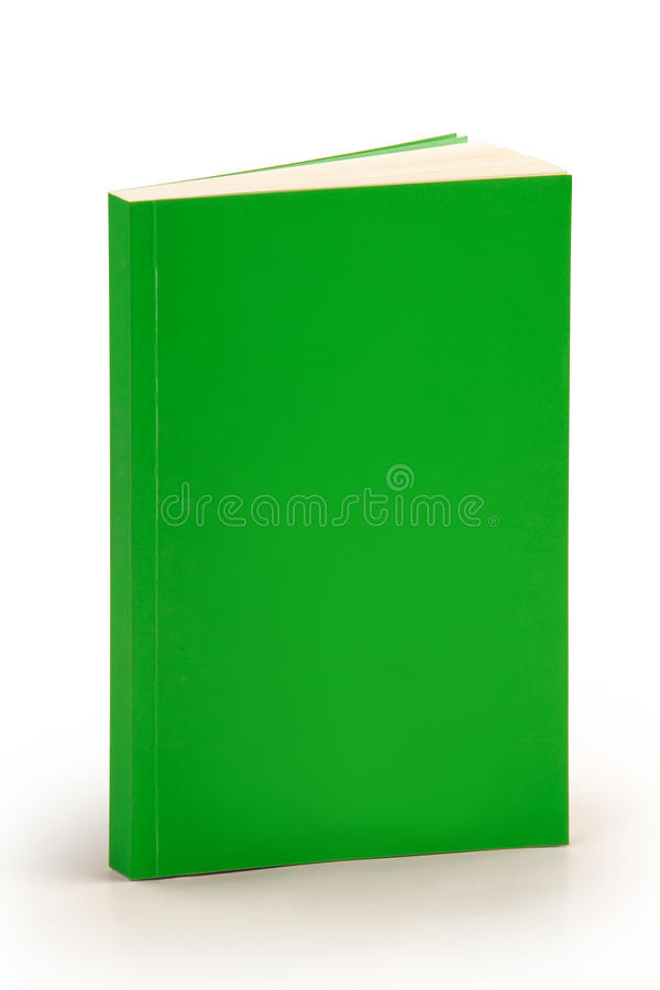 Blank green book cover with clipping path stock photos