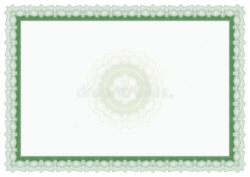 Download Blank Green Certificate Royalty Free Stock Photography - Image: 10050117