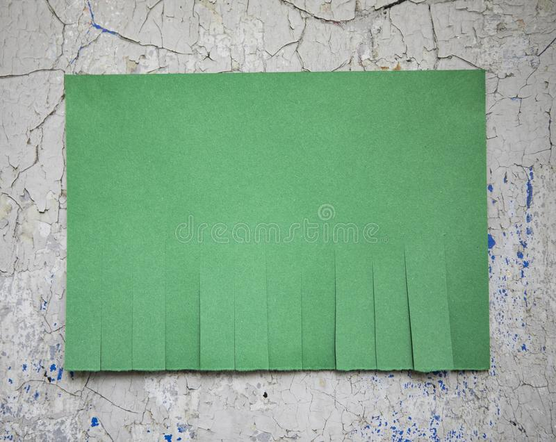 Blank green paper. With tear off tabs royalty free stock photography
