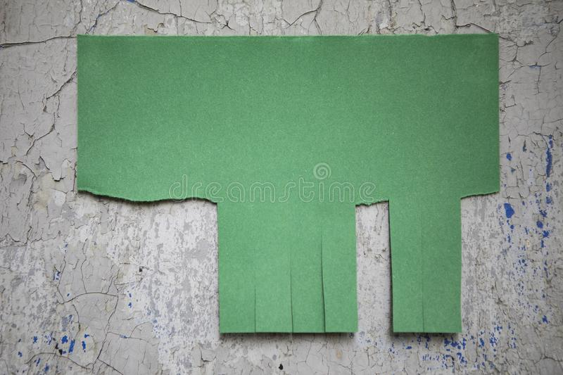 Blank green paper. With tear off tabs royalty free stock photos
