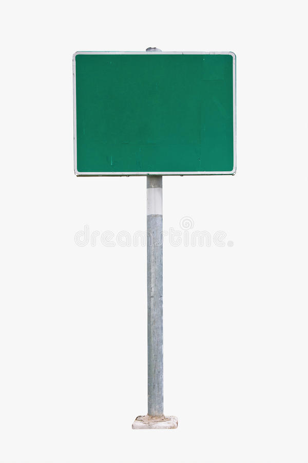 Free Blank Green Road Sign Stock Photo - 22159610
