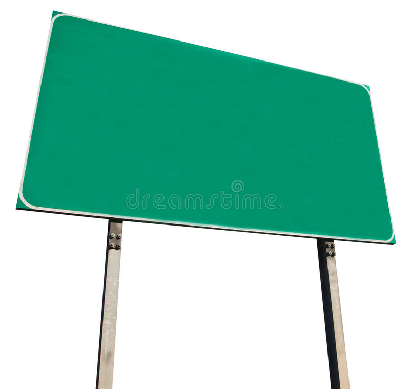 Free Blank Green Road Sign Royalty Free Stock Photo - 22904835