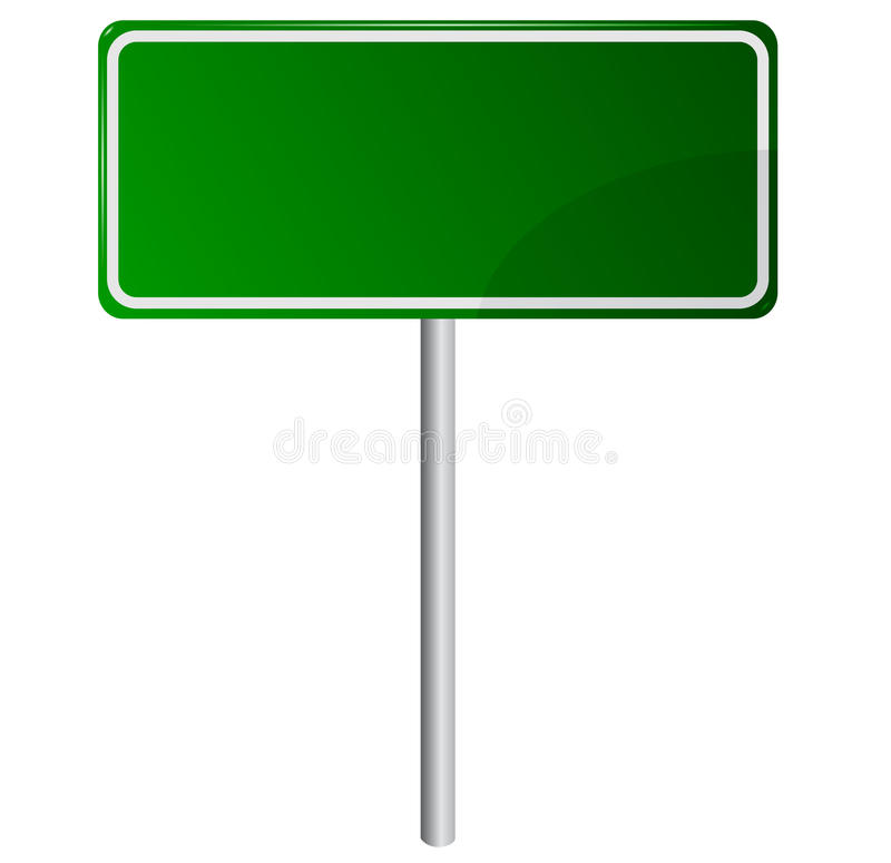 Free Blank Green Road Sign Stock Photo - 30037620