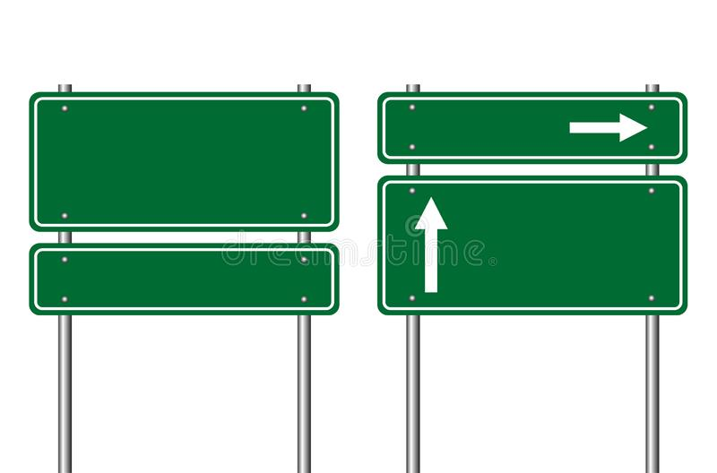 Road sign 2 royalty free illustration