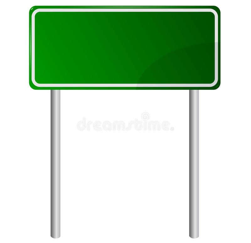 Download Blank Green Road Sign stock vector. Illustration of generated - 30019673