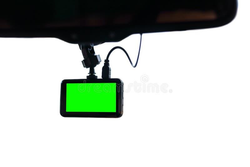 Blank green screen display monitor car video camera stock images