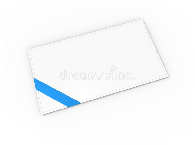 Blank Greeting Card Stock Photo