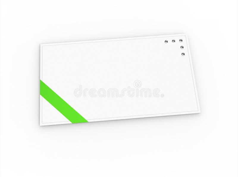 Blank Greeting Card With Green Ribbon Stock Photos