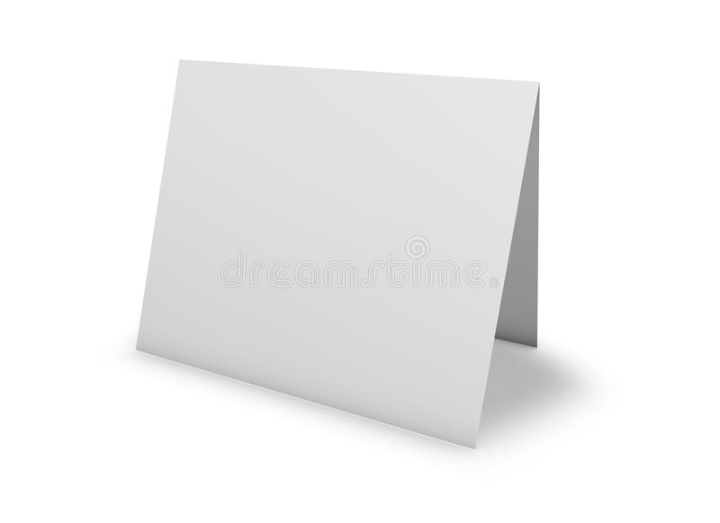 Blank greeting card standing on floor on white stock illustration download blank greeting card standing on floor on white stock illustration illustration of m4hsunfo