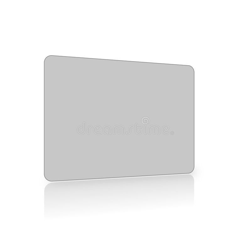 Blank grey card on white stock illustration