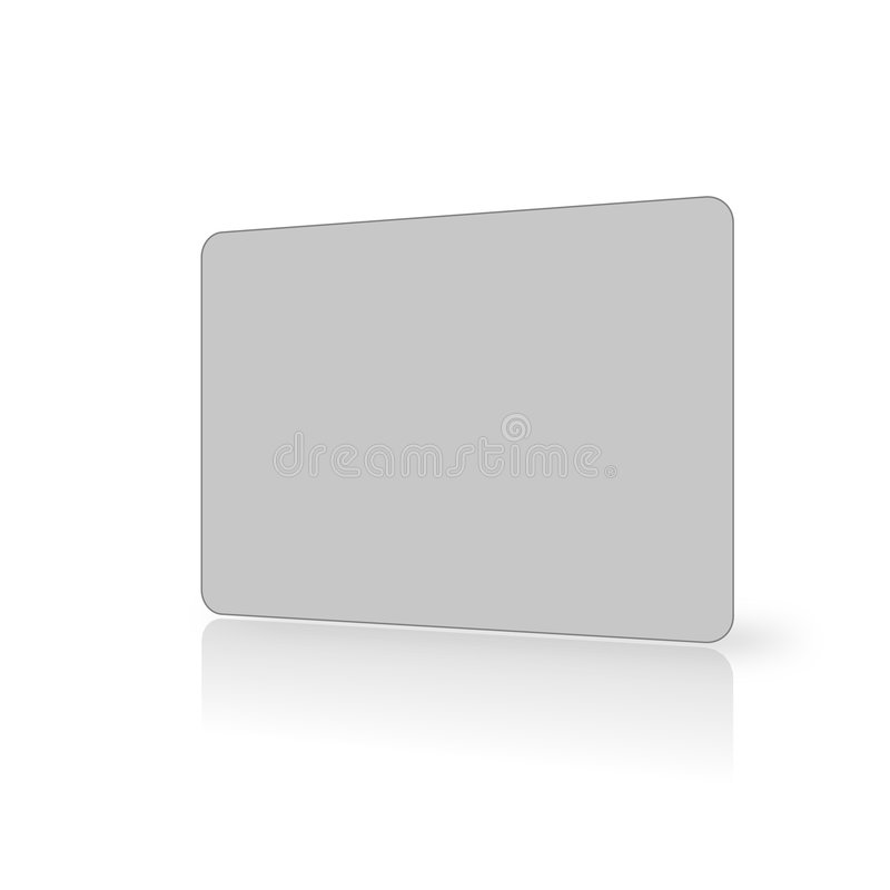 Blank grey card on white vector illustration