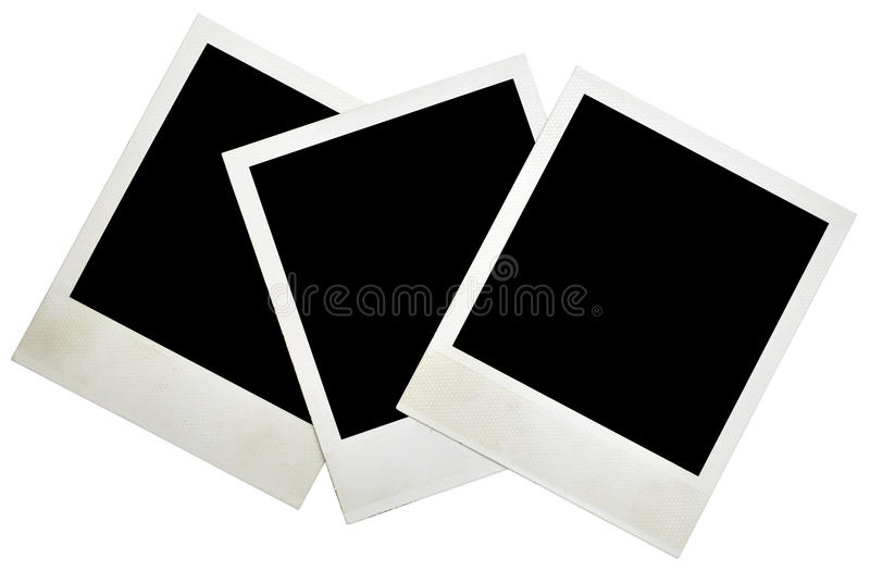 Blank grunge photo frame. Ready to be populated with any image stock image