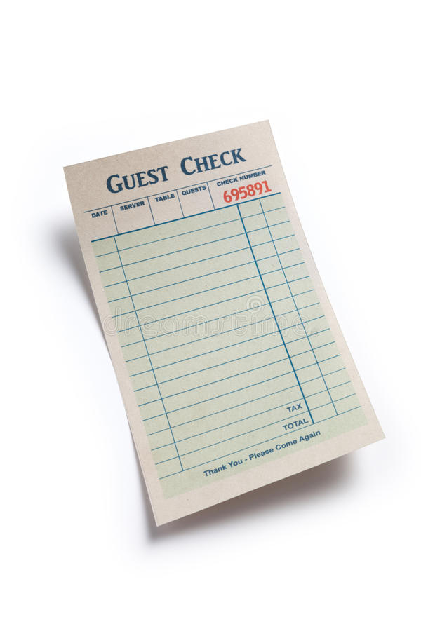 Download Blank Guest Check stock photo. Image of guest, restaurant - 29683154