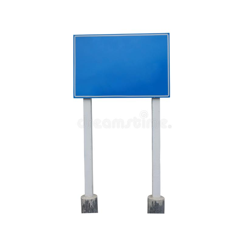 Blank guide post or Traffic sign isolated on white background. And have clipping paths royalty free stock images