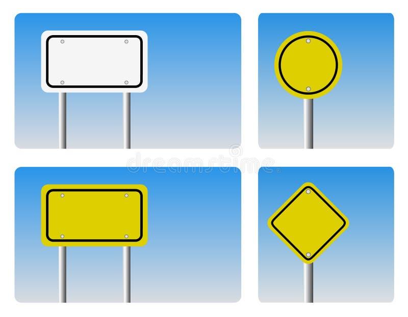 Blank guidepost sign. Vector illustration of blank guidepost sign vector illustration