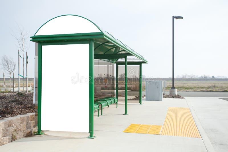 blank hållplats för affischtavla arkivfoto