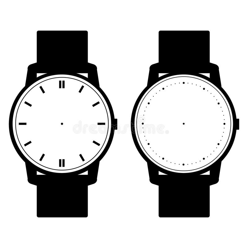 Blank hand watch face vector on white background. Illustration vector illustration