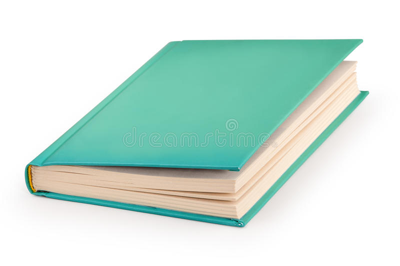 Blank hardcover book - clipping path stock image