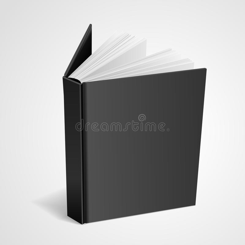 Blank hardcover book royalty free illustration
