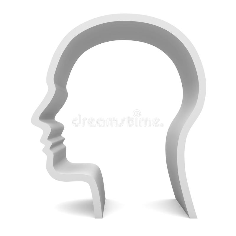 blank head profil vektor illustrationer