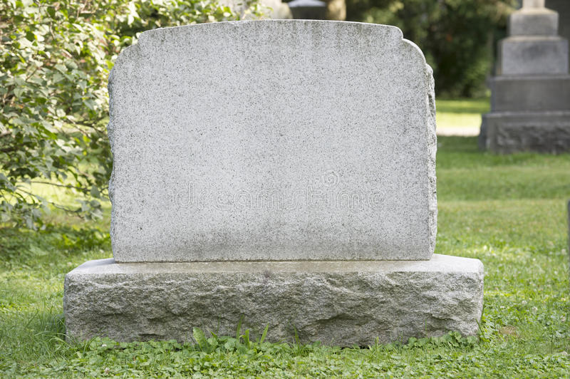 Blank Headstone royalty free stock photos