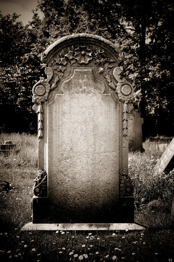 Blank headstone royalty free stock photography