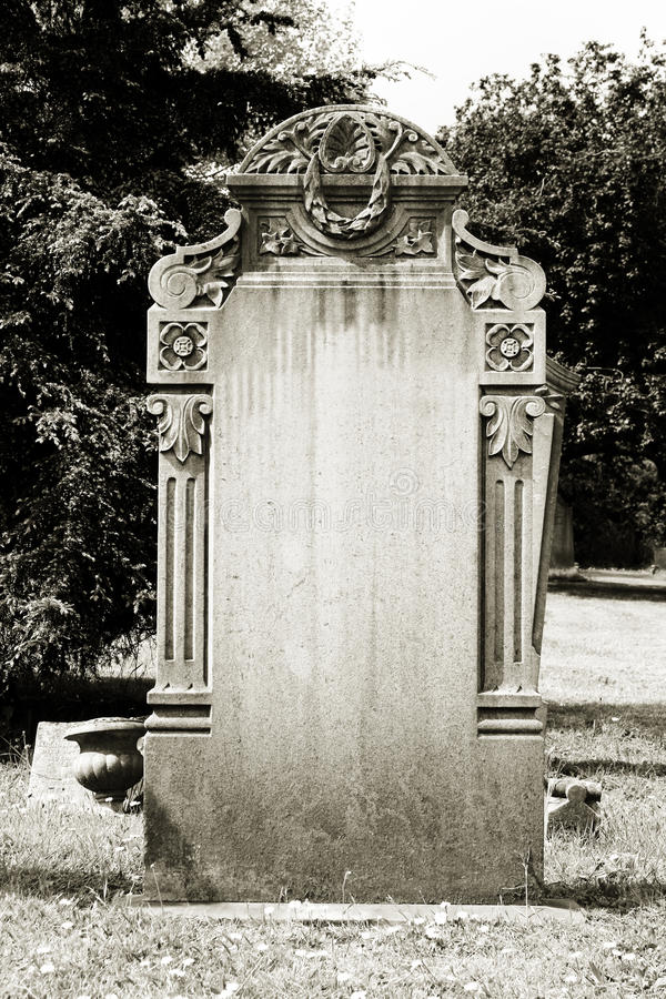 Blank headstone stock photography