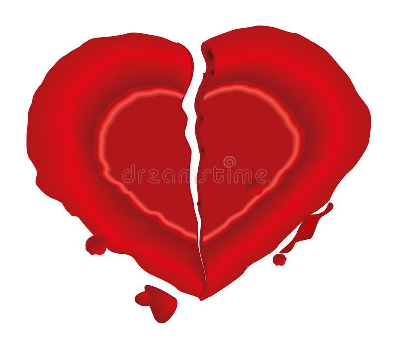 Download Blank Heart Wax Seal Royalty Free Stock Photography - Image: 18170797