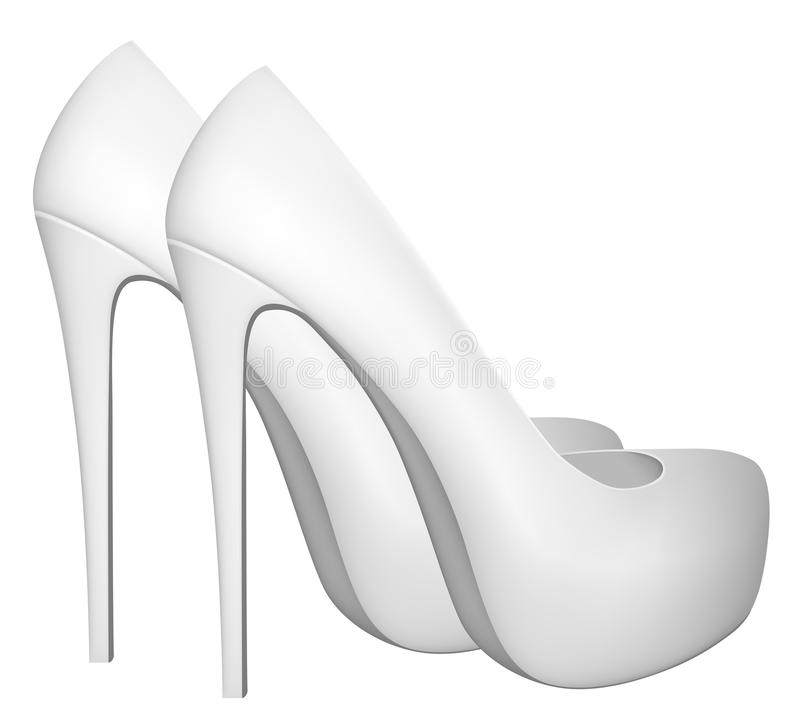 Blank high heels shoes template stock vector for High heel shoe template craft