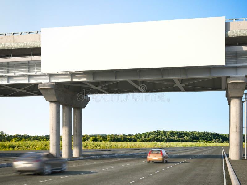Blank highway billboards. 3d rendering royalty free stock images