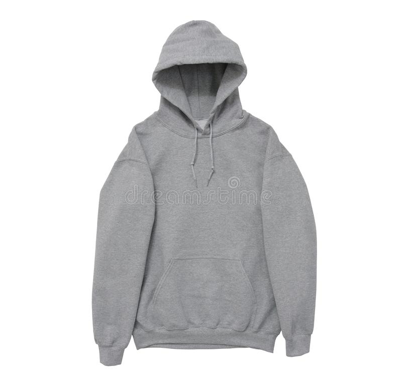 blank hoodie sweatshirt color grey front arm view stock images