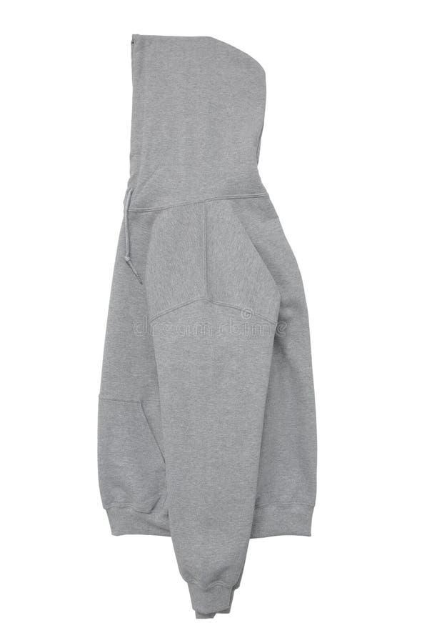 Blank hoodie sweatshirt color grey side arm view stock photography