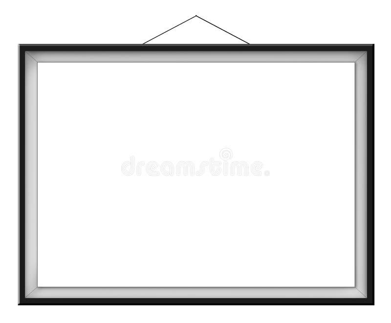 Blank horizontal painting in black frame royalty free illustration