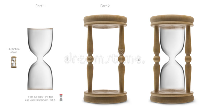 Blank hourglass. For your own designs - you can put inside anything you want royalty free stock images