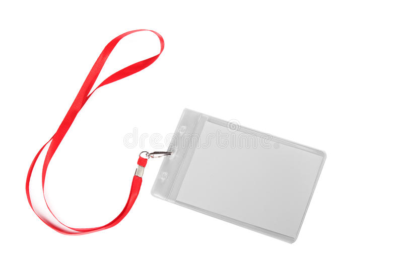 Blank ID card / badge stock images