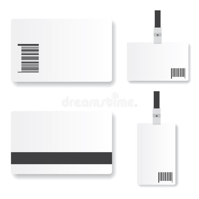 Blank id card illustration royalty free illustration