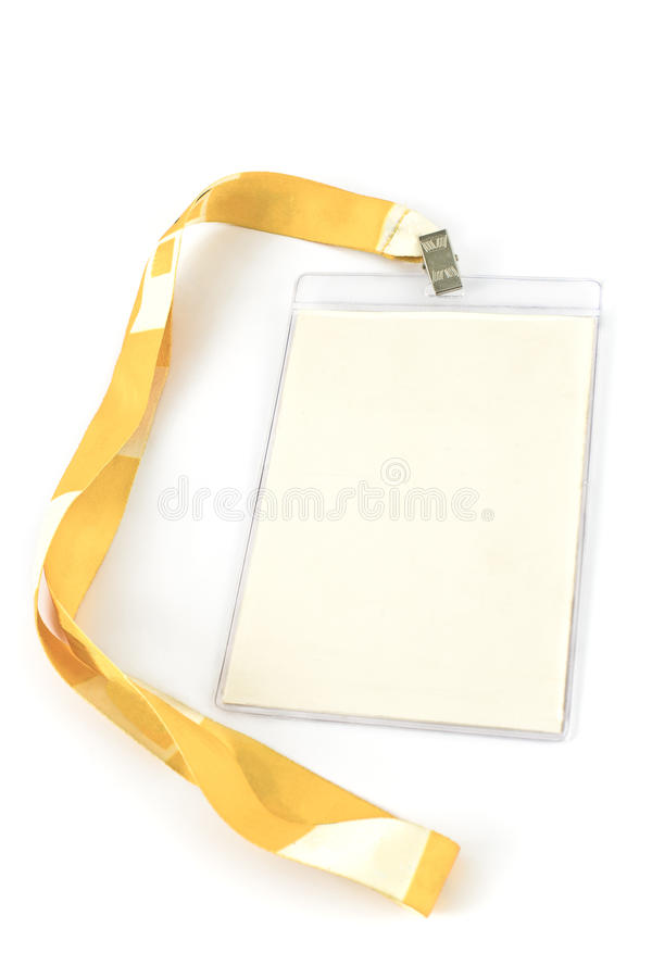 Download Blank ID card tag stock photo. Image of hello, blank - 33575660