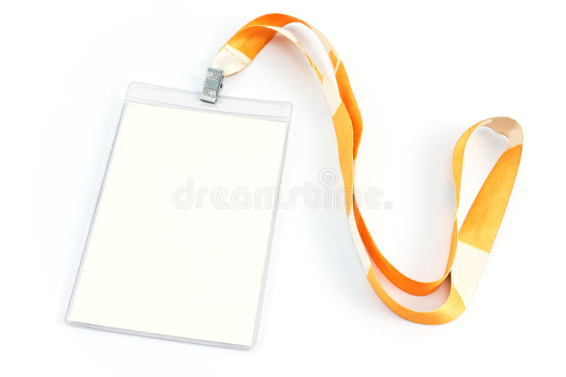 Blank ID card tag stock images