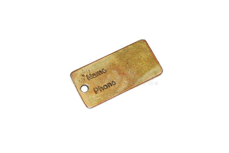 Blank ID tag stock photo