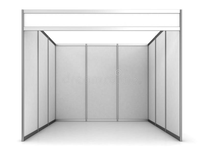 Basic Exhibition Booth : Blank indoor exhibition trade booth stock illustration
