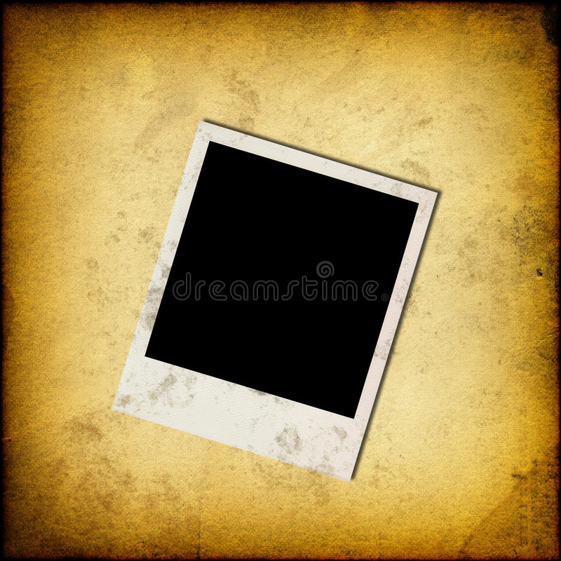Download Blank Instant Photo Frame On Old Paper Stock Photo - Image: 28205218